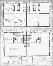 a house sketch a house plan two family duplex